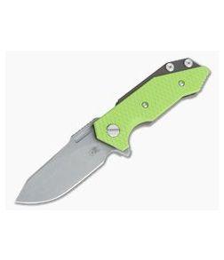Hinderer Knives Half Track Slicer 20CV Battle Bronze Neon Green G10 Tri-Way Flipper