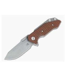 Hinderer Knives Half Track Slicer 20CV Working Finish Orange/Black G10 Tri-Way Flipper