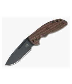 Hinderer XM Slippy Vintage Series Black O1 Spear Point Smooth Walnut Battle Green Slip Joint 0946