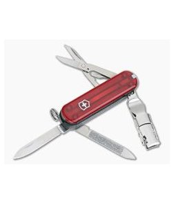 Victorinox Nail Clip 580 Ruby Translucent Red Swiss Army Knife 0.6463.T-X2
