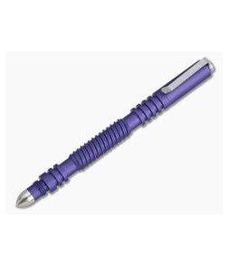 Hinderer Knives Investigator Pen Spiral Aluminum Matte Purple