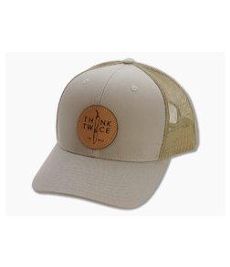 Chris Reeve Knives CRK Favorite Trucker Hat Khaki Snap Back Hat