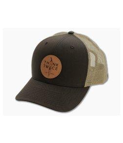 Chris Reeve Knives CRK Favorite Trucker Hat Brown Snap Back Hat