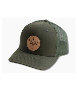 Chris Reeve Knives CRK Favorite Trucker Hat Dark Loden Snap Back Hat