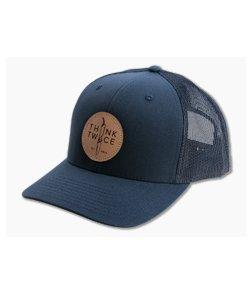 Chris Reeve Knives CRK Favorite Trucker Hat Navy Blue Snap Back Hat