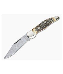 Boker Solingen Folding Hunter Stag Back Lock Knife 111011HH
