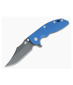 "Hinderer XM-18 3.5"" Bowie Battle Black 20CV Blue G10 Tri-Way Flipper 1121"