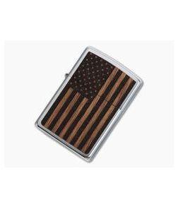 Zippo Windproof Lighter Woodchuck USA American Flag 29966