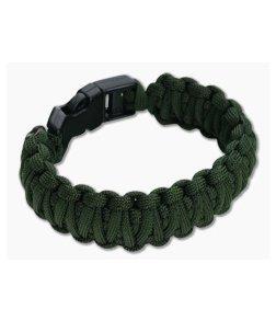 Knotty Boys 550 Paracord Bracelet OD Green