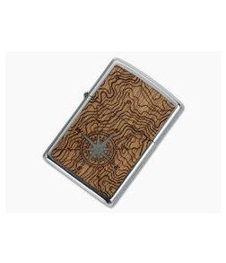 Zippo Lighter Woodchuck USA Compass