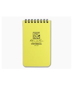 "Rite In The Rain No. 135 3"" x 5"" Universal All-Weather Notebook Yellow"