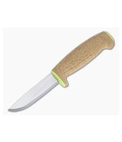 Mora of Sweden Lime Green Floating Cork Plain Stainless Steel Fixed Blade 13686