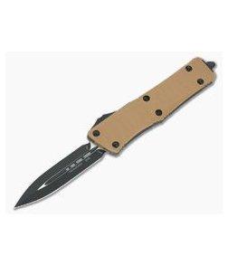 Microtech Troodon D/E Tan G10 Black Two-Tone M390 OTF Automatic 138-1GTTA