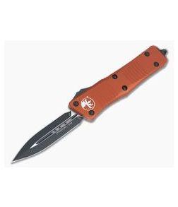 Microtech Troodon D/E Black Double Edge CTS-204P Orange OTF Automatic 138-1OR