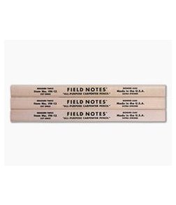 Field Notes Carpenter Pencil 3-Pack FSC-Certified Wood FN-13