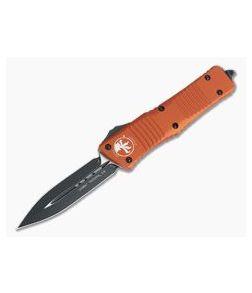 Microtech Combat Troodon Orange D/E Black Plain 204P OTF Automatic 142-1OR