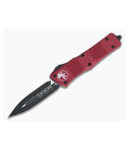 Microtech Combat Troodon Red D/E Black Plain 204P OTF Automatic 142-1RD
