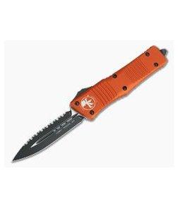 Microtech Combat Troodon Orange D/E Black Full Serration 204P OTF Automatic 142-3OR