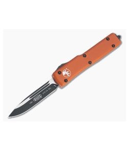 Microtech UTX-70 S/E Orange Black Drop Point M390 OTF Automatic Knife 148-1OR