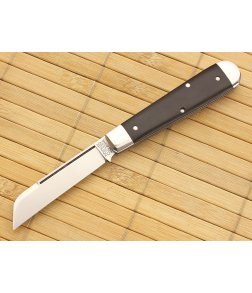 Tidioute Cutlery #15 Huckleberry Gabon Ebony Single Sheepsfoot Blade