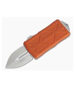 Microtech Exocet Orange Stonewashed M390 Plain Double Edge CA Legal OTF Auto 157-10OR
