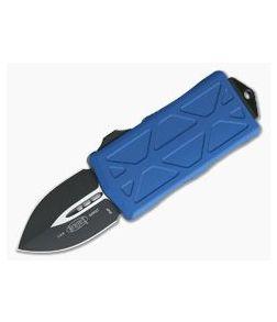 Microtech Exocet Black Plain Double Edge Blue CA Legal OTF Auto 157-1BL