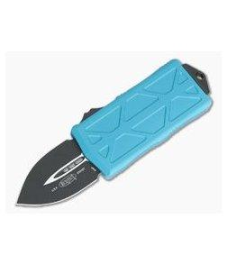Microtech Exocet Turquoise Handle Black Plain Double Edge CA Legal OTF Auto 157-1TQ-204P