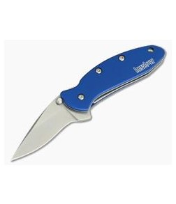Kershaw Chive Navy Blue SpeedSafe Assisted Stonewash Liner Lock 1600NBSW