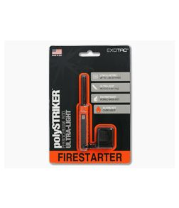 Exotac polySTRIKER Fire Starter Orange/Black 1600-ORG