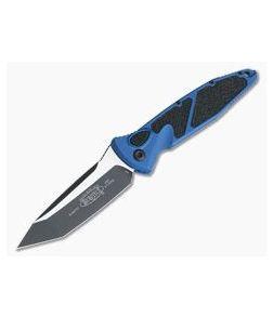 Microtech Socom Elite Automatic Tanto Blue Black Plain Edge CTS-204P 161A-1BL