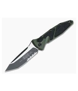 Microtech Socom Elite Automatic Tanto Green Black Partially Serrated CTS-204P 161A-2OD