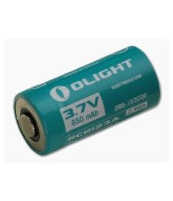 Olight RCR123A Li-ion Rechargeable Battery 650mA