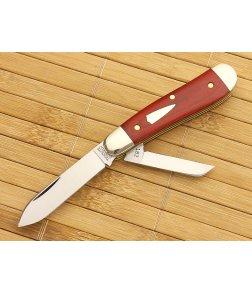 Tidioute #18 Beagle 2-Blade Red Linen Micarta