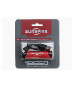 SureFire 18650B 3500 mAh Micro USB Lithium Ion Rechargeable Battery