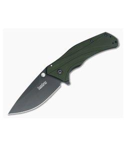 Kershaw Knockout Olive Handle Black Blade 1870OLBLK
