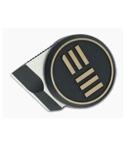 WE Knives Quark Ostap Hel Chisel M390 Gold/Black Pendant Neck Knife WE20021-1