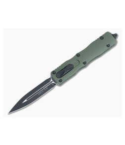 Microtech Dirac OD Green Double Edge Black M390 Top Slide OTF Automatic Knife 225-1OD