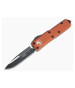 Microtech UTX-85 S/E Orange Black M390 Drop Point OTF Automatic Knife 231-1OR