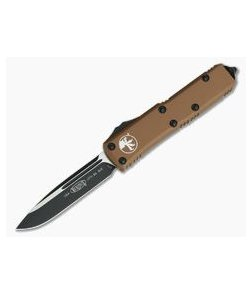 Microtech UTX-85 S/E Tan Black CTS-204P Drop Point OTF Automatic Knife 231-1TA