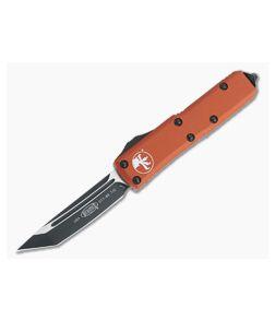 Microtech UTX-85 Orange Tanto Black 204P Plain Edge OTF Automatic Knife 233-1OR