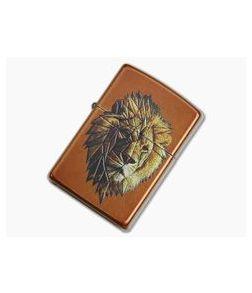 Zippo Lighter Polygonal Lion Design
