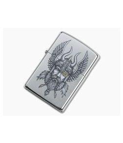 Zippo Lighter Viking Warrior Design