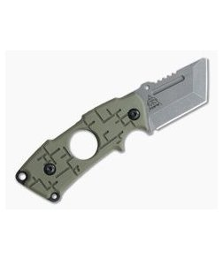 TOPS 208 Clipper Stonewashed S35VN Green G10 Friction Folding Cigar Cutter 2CP-01
