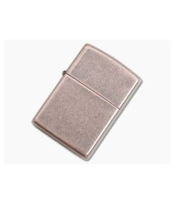 Zippo Lighter Antique Copper Flat Bottom