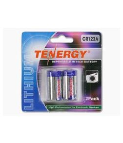 Tenergy 3V 1400mAh Lithium CR123A Battery Two Pack 30407