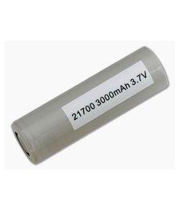Samsung 30T INR 21700 3000mAh 3.6V Unprotected High-Drain Lithium Ion Flat Top Battery