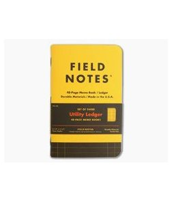 Field Notes Utility Ledger 48-Page Notebook 3 Pack