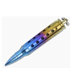 Steve Kelly .223 Bullet Dangler Titanium Key Chain Rainbow 3589