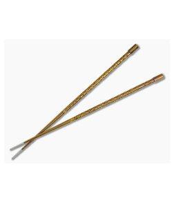 Steve Kelly TiSushi Sticks Bronze Anodized Titanium Chopsticks