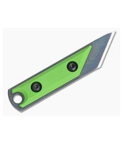 NCC Knives EDC Kiridashi Distressed O1 Toxic Green G10 Fixed Blade